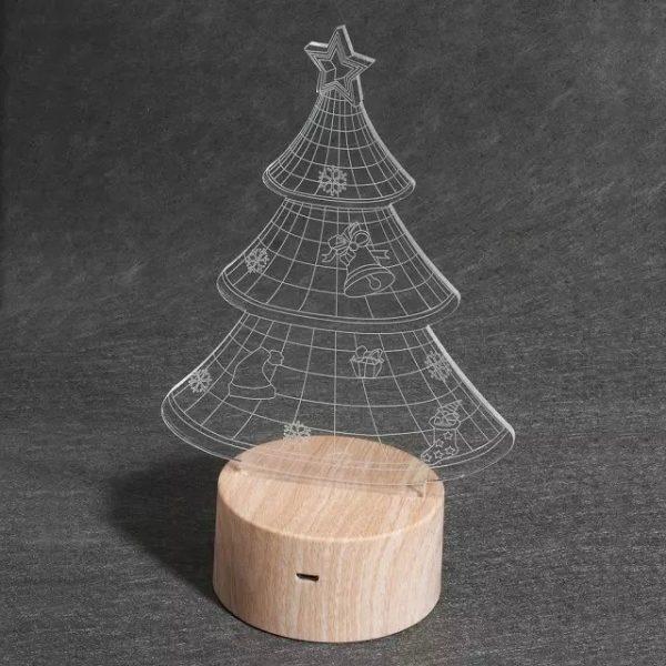 3d optical lamp Christmas tree