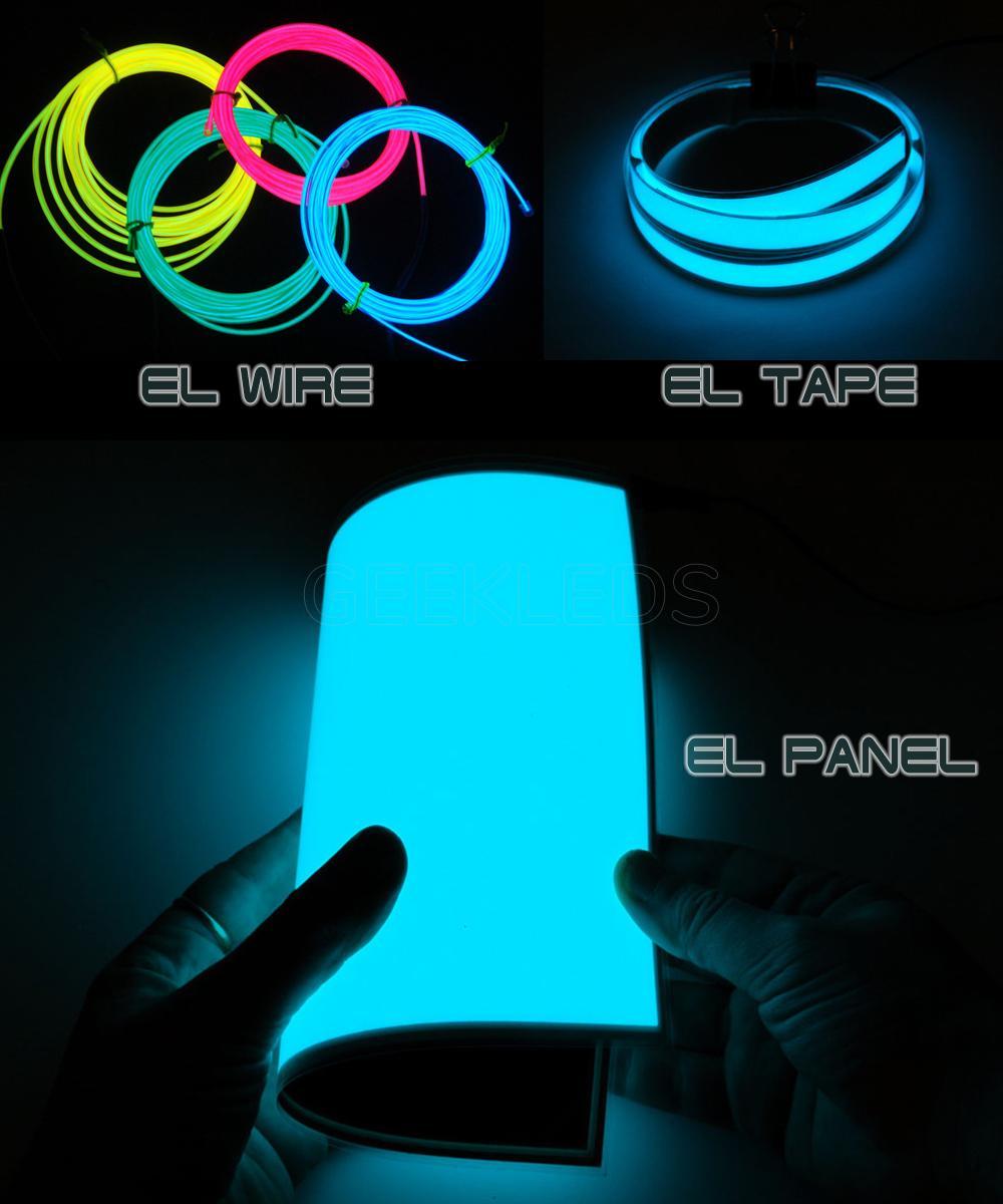 EL Wire EL tape EL panel EL light GEEKLEDs