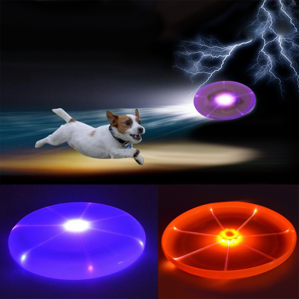 GEEKLEDs Dog Training Frisbee Flying Saucer